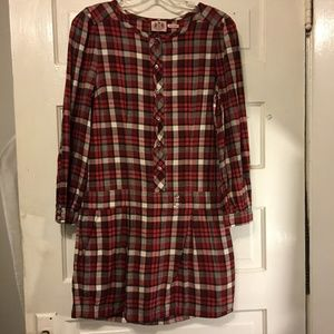 Juicy Couture Sz 4 Dress Flannel Tartan Plaid L/S